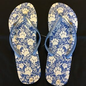 Shoes - NWT Flip Flops with Paw Prints
